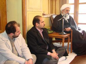 گزارش تصویری دیدار با حضرت آیت الله العظمی حاج شیخ حسین مظاهری